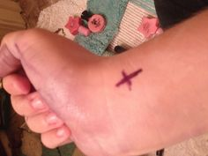 Temporary tattoo:  Draw tattoo with Sharpie, cover in baby powder, spray lightly with hairspray!