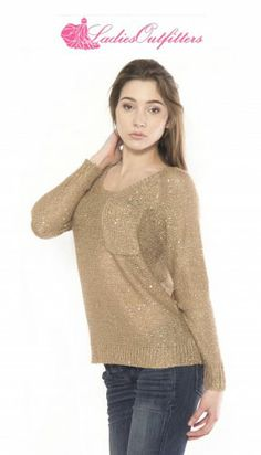 This is the perfect day to go #sweater shopping. This sequin sweater with back cut out from #MoonRiver is a great way to drive the #winter doldrums away! See it in action below:  https://www.youtube.com/watch?v=DX8Zko0dcvU  Follow our #YouTube channel at https://www.youtube.com/user/ladiesoutfitterstv for more amazing #fashion vids and behind the scenes sneak peeks!
