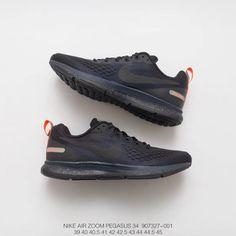 6bc4d4faeaea Nike Air Zoom Pegasus 34 Mesh Breathable Racing Shoes Mens Black Wolf Grey    Coal Black   Black
