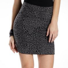 Gray Print Skirt Like new gray print BodyCon Skirt Decree Skirts