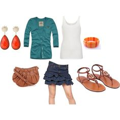 casual day on campus, created by carabiner252.polyvore.com