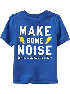 """Make Some Noise"" Tees for Baby"