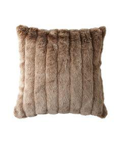 Red Fox Faux Fur Pillow - Horchow