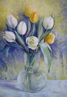 Elena Oleniuc › Portfolio › Vase with flowers Original Paintings For Sale, Painted Vases, Learn To Paint, Art Pages, Flower Art, Saatchi Art, Drawings, Artwork, Spring Flowers
