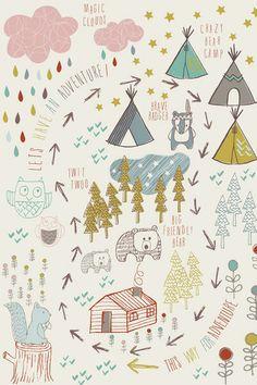 ADVENTURE FOREST - JAYNE TIFFANY FOR L`AFFICHE MODERNE http://mokkasin.blogspot.no