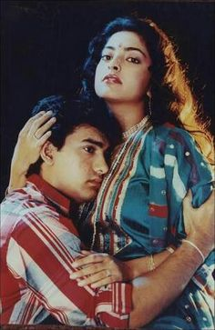 Aamir Khan and Juhi Chawla Bollywood Couples, Bollywood Actors, Juhi Chawla, Aamir Khan, Vintage Bollywood, Action Poses, Cute Photos, Most Beautiful Women, Asian Woman