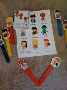 Super Hero Counting Printables