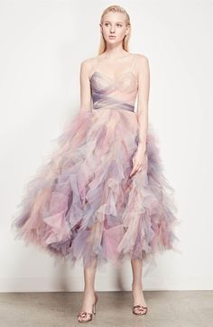 Marchesa Watercolor Tulle Dress- If I were a fairy