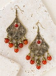 ON SALE Red Crystal Earrings, Cluster Earrings, Gold Filled ...