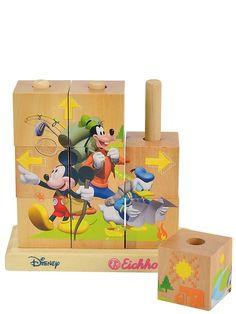 Mikki Hiiri -kuutiopalapelissä on neljä erilaista koottavaa kuvaa, joissa Mikki seikkailee ystäviensä kanssa. Kootun puupalapelin koko on 14 x 14 cm. Kuutioita on yhteensä 9.
