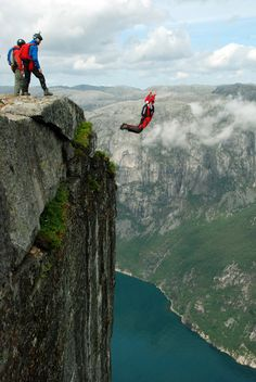 Base Jumping on My Bucket List but...My boyfriend would die before he tried this