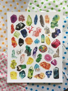 Crystal art prints and stickers by Twigglings on Etsy