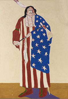 Fritz Scholder - he American Indian, Fritz Scholder, oil on linen, 1970. Indian Arts and Crafts Board Collection, Department of the Interior, NMAI