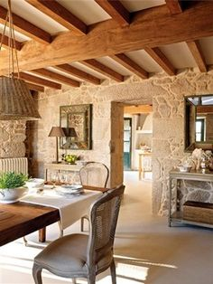 A lovely stone house. Interior And Exterior, Interior Design, Country Interior, Provence Style, French Farmhouse, French Cottage, Stone Houses, French Country Style, My Dream Home