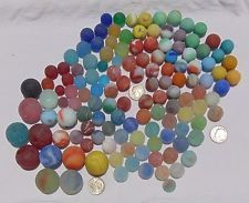 GENUINE BEACH SEA GLASS MARBLES SURF-TUMBLED Lot of 132