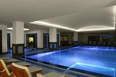 So blue. The indoor pool of Xanadu Island...