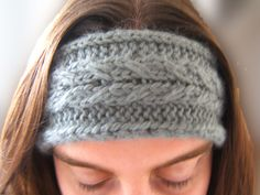 knit warm weather head wrap