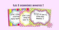 Les 5 dernières minutes French Classroom, Petite Section, Kindergarten Classroom, Special Education, Classroom Management, Literacy, Activities For Kids, Blog, Teaching