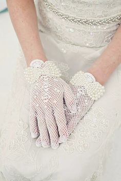Dainty Gloves ~ to wear with the polka dot black dress to the dies