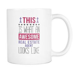 Awesome Real Estate Agent mug - Real Estate Agent coffee cup (11oz) White
