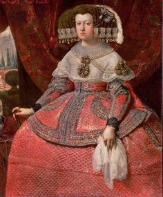 Queen Maria Anna of Spain in a Red Dress, 1655/60 By Diego Velázquez
