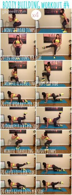 Booty Building Workout with Ankle Weights Fitness Workouts, Sport Fitness, At Home Workouts, Fitness Tips, Fitness Motivation, Glute Workouts, Weight Exercises, Body Workouts, At Home Glute Workout