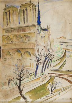 Mela (Maria Melania) Muter (Mutermilch) - Katedra Notre-Dame w Paryżu, 1945 r.