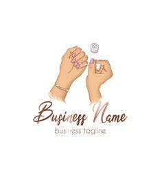 Source by simkinsloriann Beer Logo Design, Wedding Logo Design, Elegant Logo Design, Circle Logo Design, Vintage Logo Design, Nail Salon Names, Gaming Logo, Nail Logo, Nail Salon Design