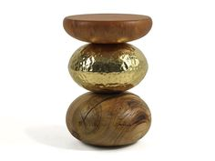 Stool / coffee table PEBBLE Earth to Earth Collection by Ginger & Jagger
