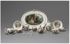 Die Leiden des jungen Werther; The Sorrows of Young Werther   Schubert, Johann David, Meissen, ca.1790. Painted with scenes from Goethe's novel The Sorrows of Young Werther.  V