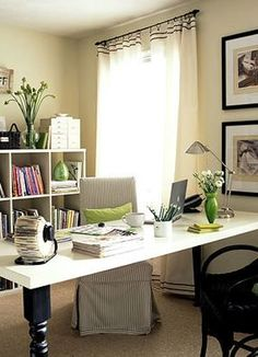 PCH office inspiration (desk is actually an old door revamped...)