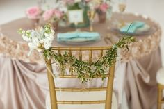 I usually don't like decorated chairs, but this is really pretty
