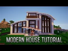 Minecraft Tutorial: How To Build A Modern House Ep1 (Layout And Design) - YouTube