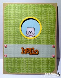 Art Impressions Mini Front & Backs cat & dog mini set (SKU card Art Impressions Stamps, Animal Cards, Girl Birthday, Cardmaking, Cute Animals, Greeting Cards, Paper Crafts, Mini, Card Ideas
