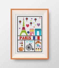 BUY 2 GET 1 FREE Paris cross stitch pattern  by NataliNeedlework