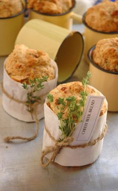 Cheesy Beer Bread .. cute way to wrap bread