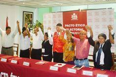 NOE CAPUÑAY TESEN: Candidatos firman pacto ético en S.M.MARTES 12 DE ...