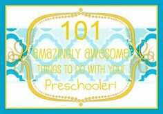 preschooler activity ideas