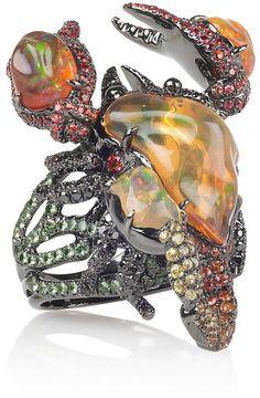 Lydia Courteille Gardens of XochimilcoScorpio fire opal ring