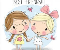 Cute cartoon girls design vector 06