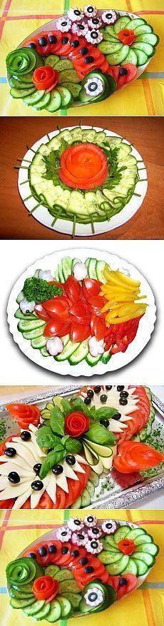 Fruit Salad Platter Recipe 23 Ideas For 2019 Food Garnishes, Garnishing, Food Carving, Vegetable Carving, Veggie Tray, Vegetable Snacks, Edible Arrangements, Food Displays, Food Platters