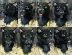 Crystal Grant (Crystumes) - Black werewolf mask by crystumes
