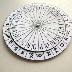 Hieroglyphics Symbols Cipher Disk, Spy Party Favors, Escape Room Prop, Encoder Decoder, Secret Agent Activities, Mystery Game Secret Message