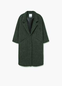 Oversize wool coat - Coats for Women Oversized Mantel, Oversized Coat, Teddy Jacket Womens, Fall Winter Outfits, Autumn Winter Fashion, Coats For Women, Jackets For Women, Mango Coats, Womens Windbreaker