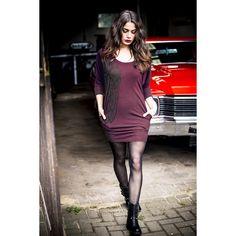 "Rock Rebel by EMP Korte jurk, Vrouw ""Wild Roses Dress"" bordeaux • Large"