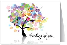 Thinking of You Greeting Card - use fingerprints for colors