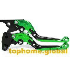 Motorbike Accessories CNC Foldable&Extendable Brake Clutch Levers For Kawasaki NINJA 250R 2008-2012 2009 2010 2011 #Affiliate