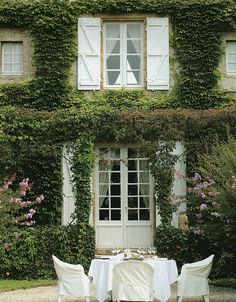 Shutters, ivy, and outdoor living. Nothing better!