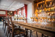 Irish Whiskey Academy Home for Irish Distillers, Pernod Ricard: Ground floor tasting table detail