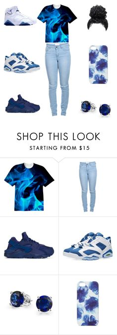 """all blue"" by aleisharodriguez ❤ liked on Polyvore featuring Pieces, NIKE, Jordan Brand, Bling Jewelry and Jigsaw"